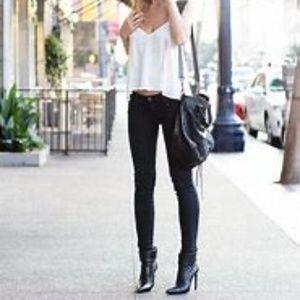 Jennifer Lopez denim black straight slim jeans 0s